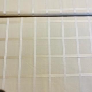 tech.tkanina bílá s čtverečky š.100