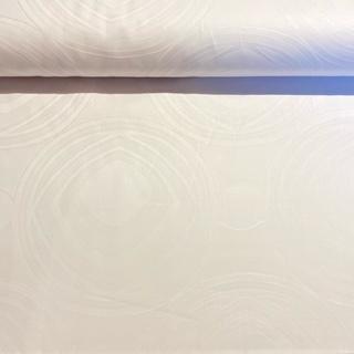 bavlna bílý damašek vyt.kol  š.140  1 j.