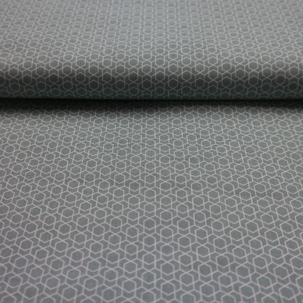 bavlna mentol geometrický vzor
