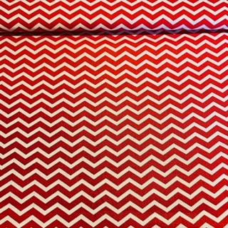bavlna červeno bílý špičky