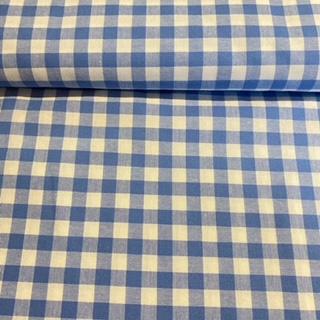 bavlna kanafas modro bílá kost.1cm 170