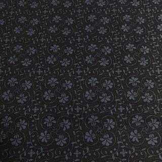bavlna květy tmavě modrá