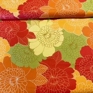 bavlna čer.zel.žl.veliké květy š.140