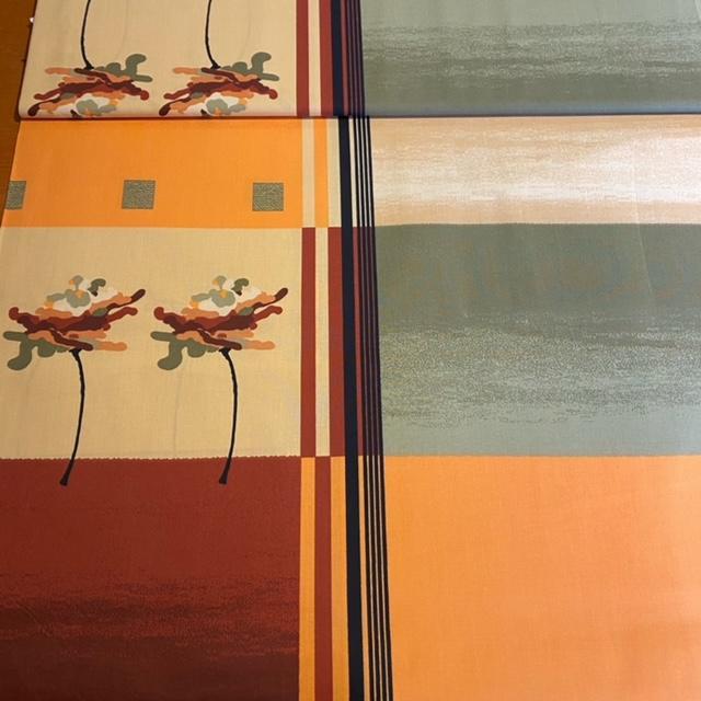 bavlna oranž/b/bež /kha/kost-vzor
