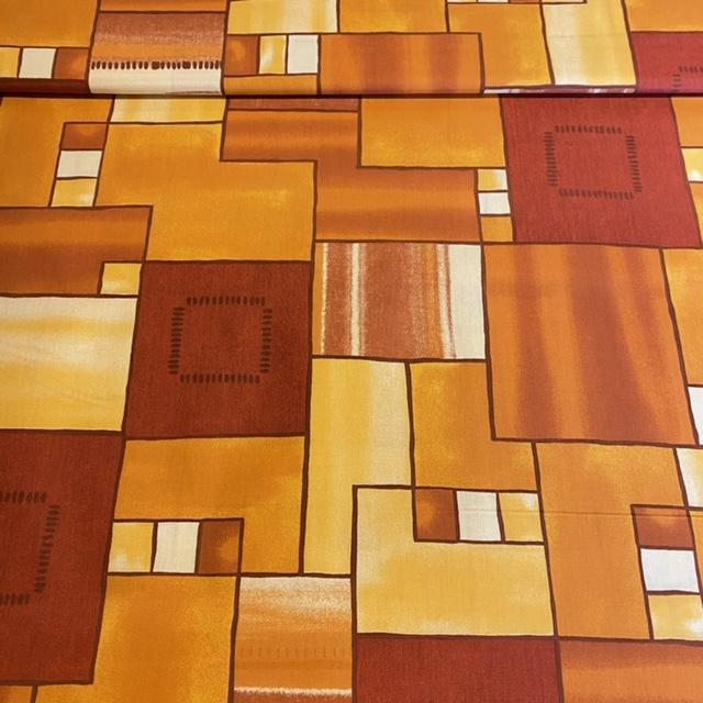 bavlna oran.žlut.abstr.vzor