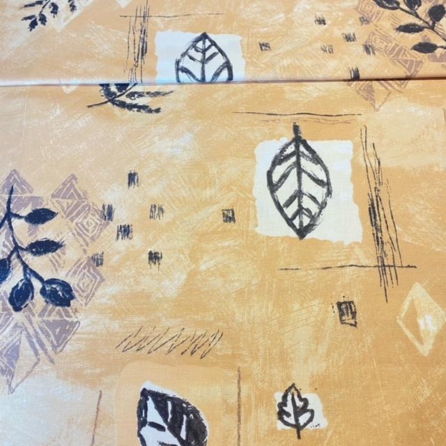 bavlna  bez/č/bile listy 1.j.  140 cm