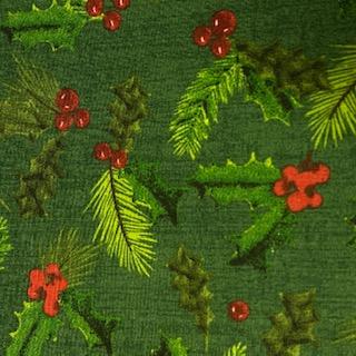 bavlna cesmína  na zeleném podkladě 110 cm