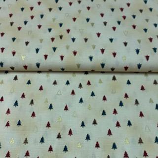 bavlna barevné stromečky 110 cm