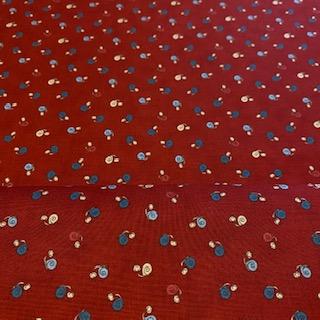 bavlna mordo modrý šnek 110 cm