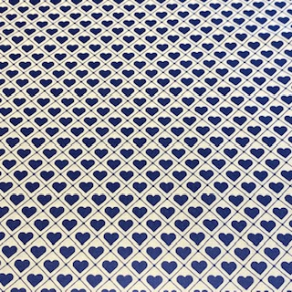 bavlna modro bílé srdíčka 110 cm