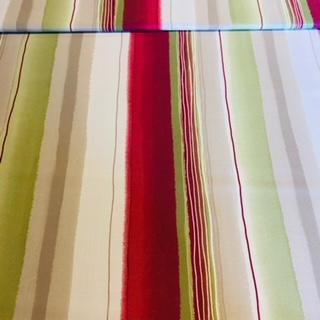 dekoračka zelšedbílfialový pruh š.140cm