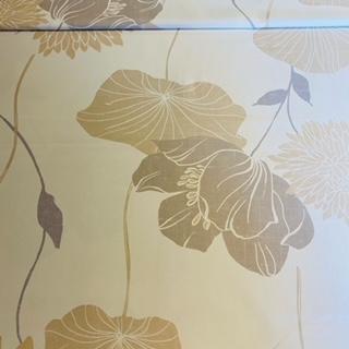 dekoračka béžovo šedé velké květy  š.160