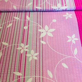 bavlna krep5296/12 růžovo bílý pruhy-kvě