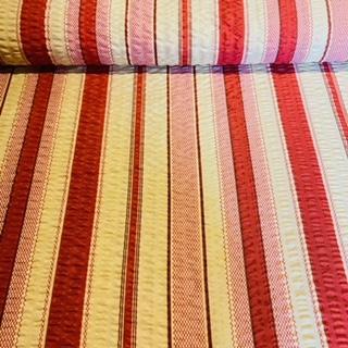 bavlna krep bordo žlut.pruhy š.150