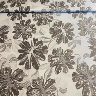 Dekoračka šedá bílý květ AMAZON03