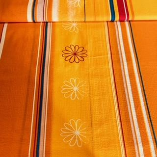 bavlna krep oranž/žl/pruh 2,j