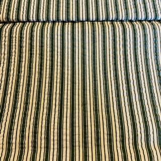 bavlna  krep zeleno-bílý pruh