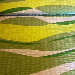 bavlna krep zel.béž.vlny š.143