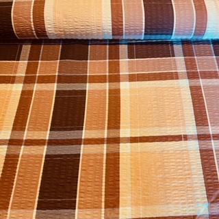 bavlna krep hnědočerbéžkostka š.160 2.j.