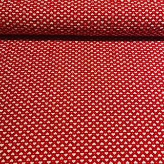 bavlna krep červeno-bílá srdíčka š,140