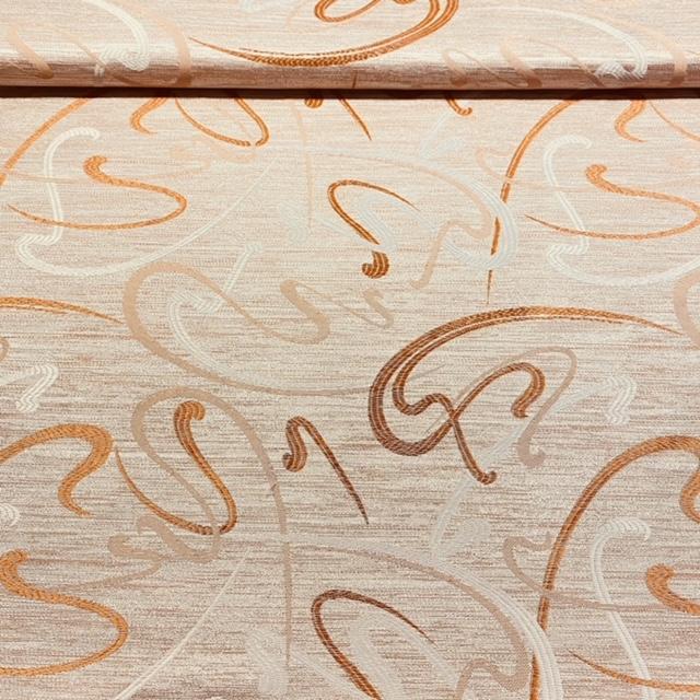 dekoračka oranžová, hladká, šlahouny š.140 PES