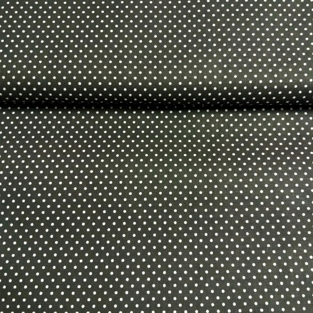 bavlna černá bílý puntík