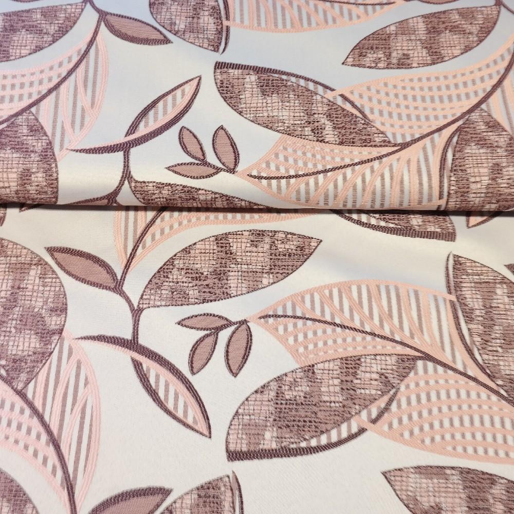 dekoračka  růžovo fial.listy 140 cm