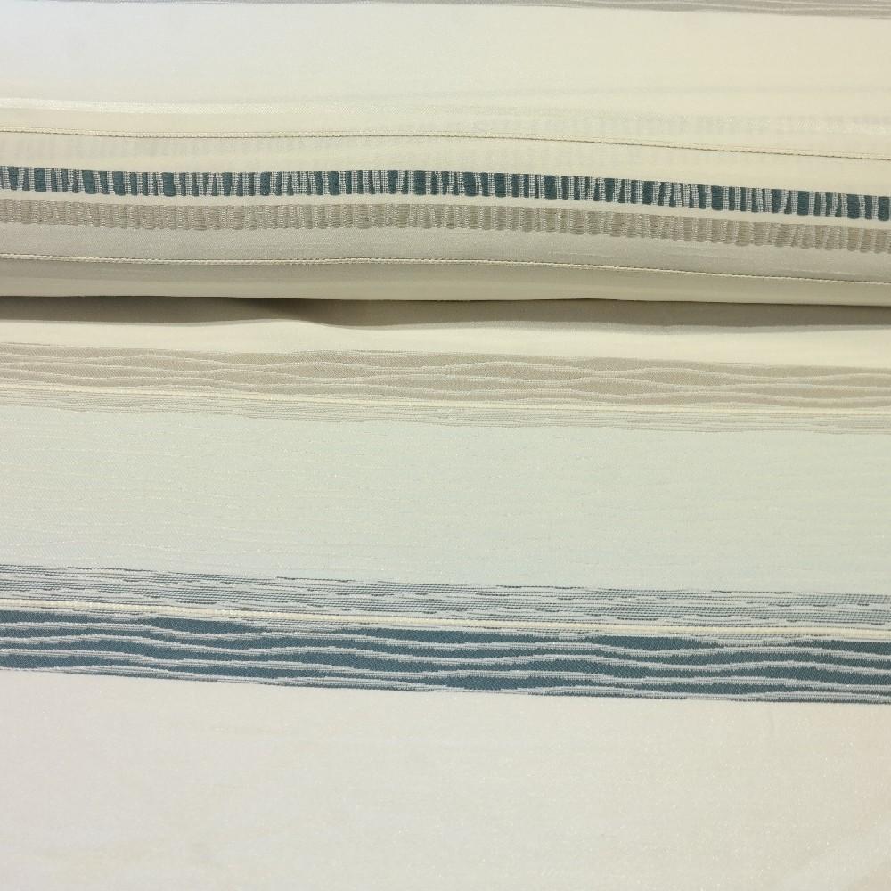 dekoračka modr.krémové pruhy 140 cn