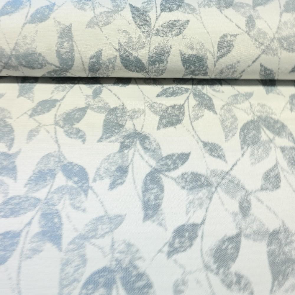 dekoračka šedo modré listyt RA šedá V280cm