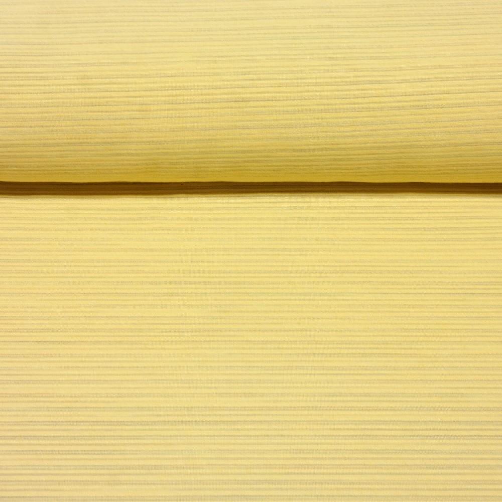dekoračk žlutá tenké modré proužky 140