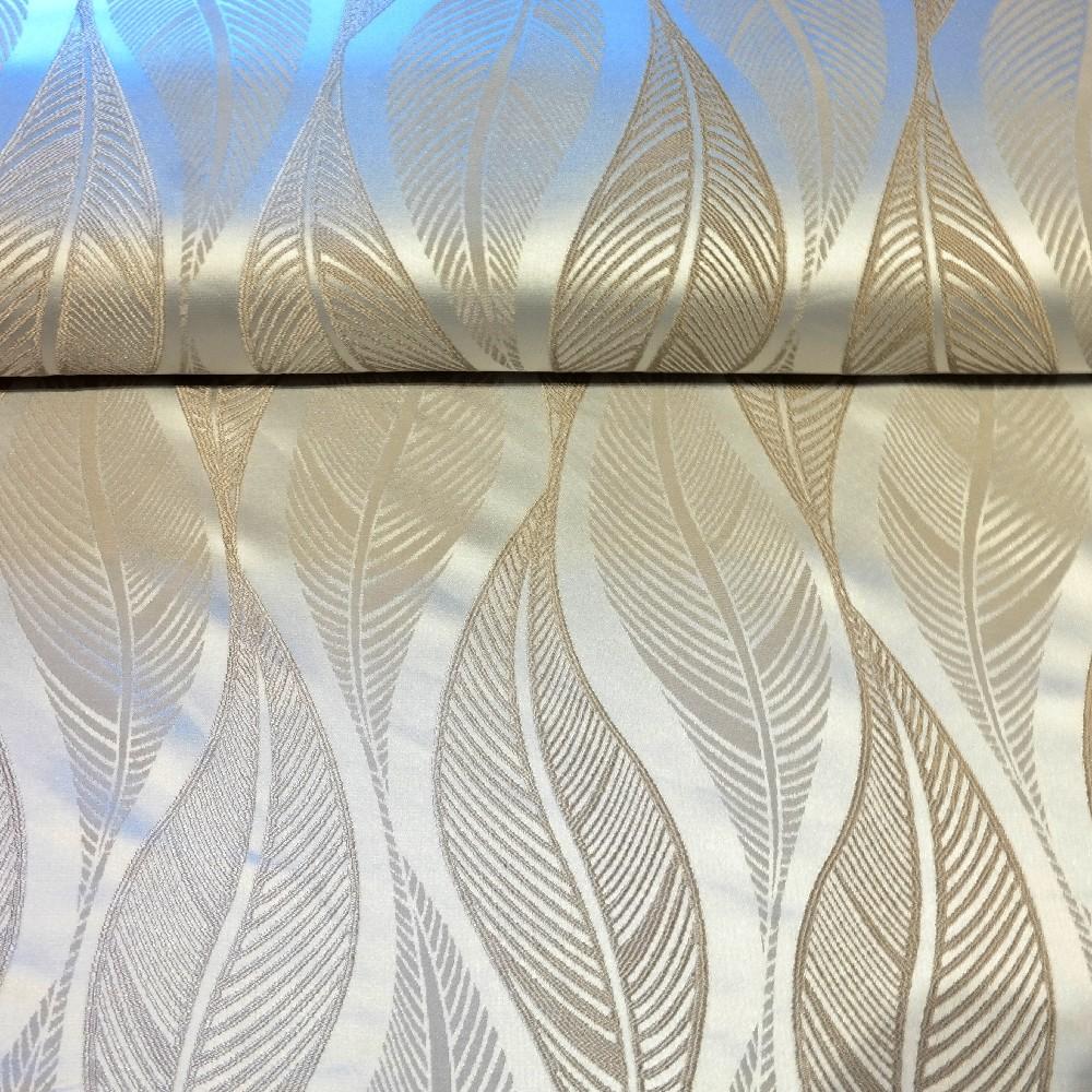 dekoračka šedivá, lesklá, vytl. listy š.155 PES