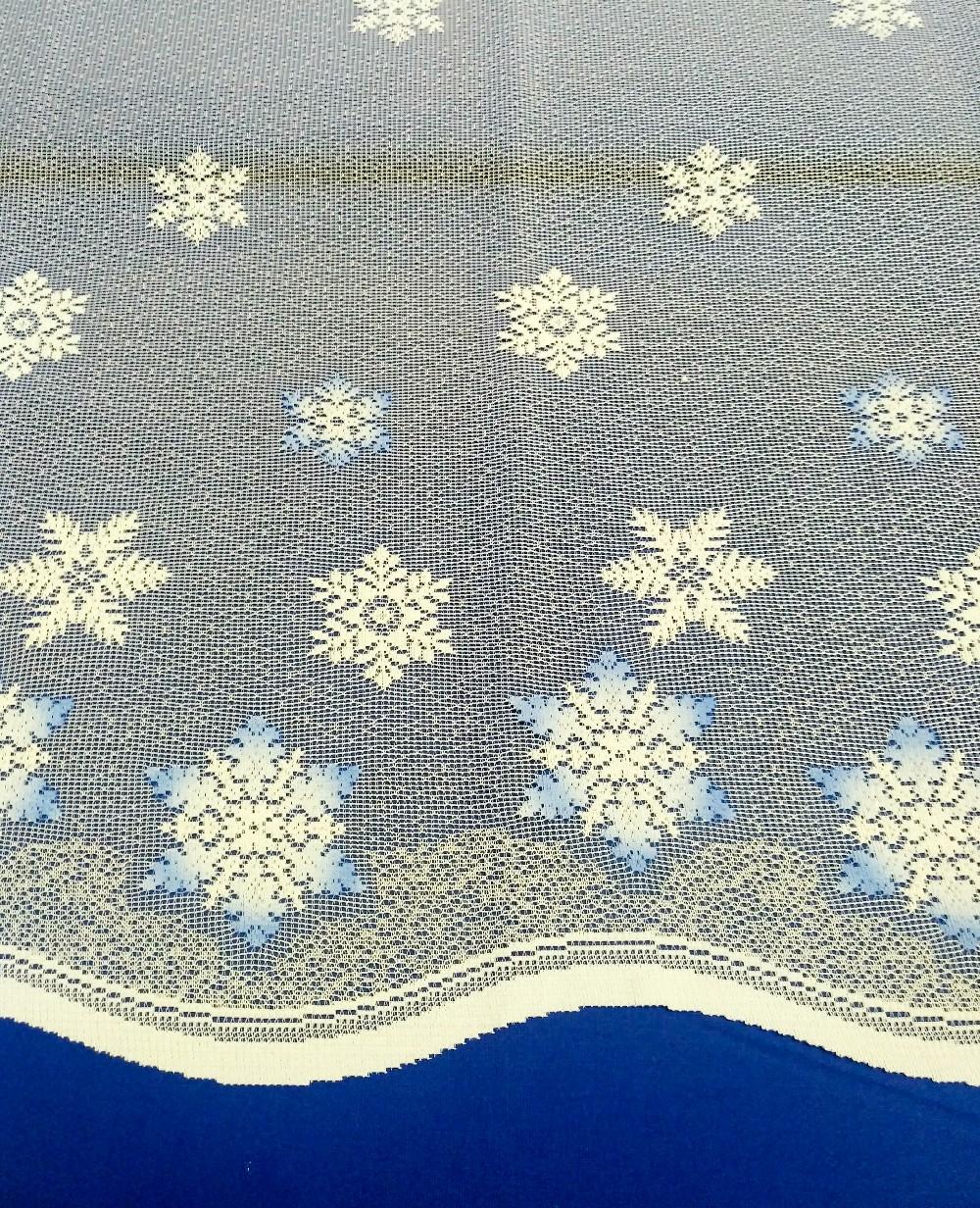 záclona T 3450020/090 modré hvězdy