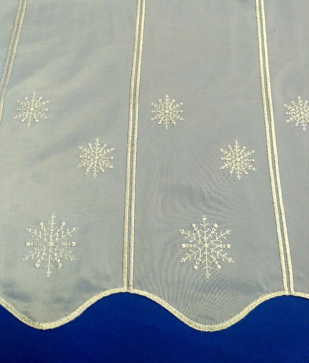 záclona  vánoční 45cm voál