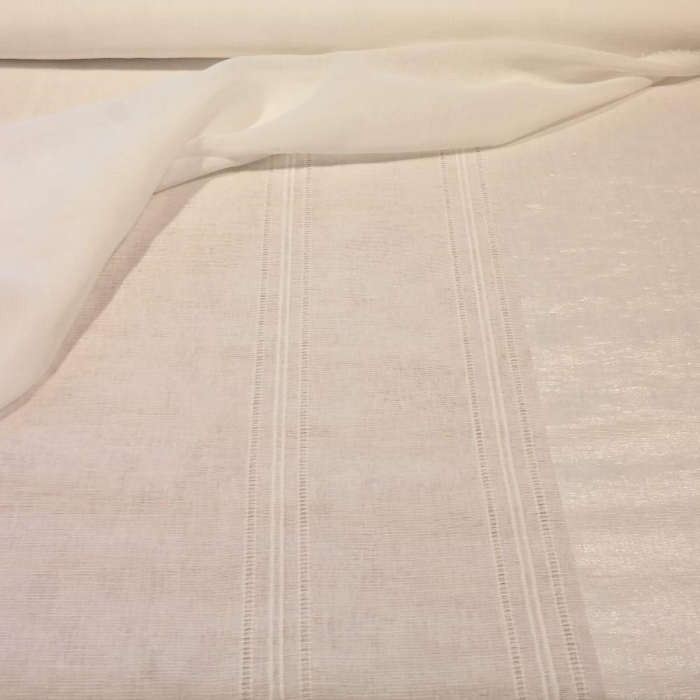 záclona bílá, proužky v.280
