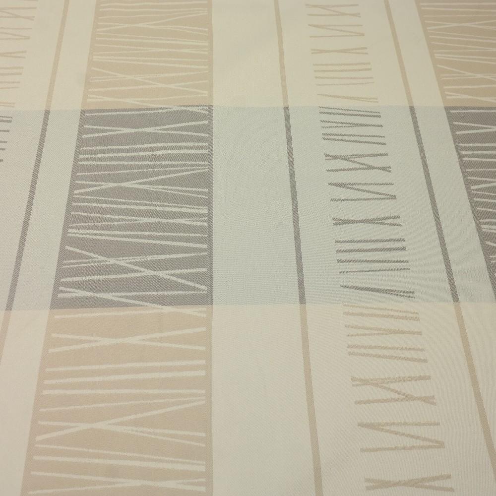 dekoračka béžovo hůnědý abs.vzor pruhy š.140