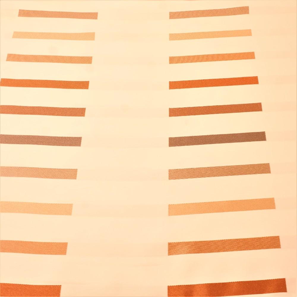 dekoračka krémová, hnědé proužky š.140