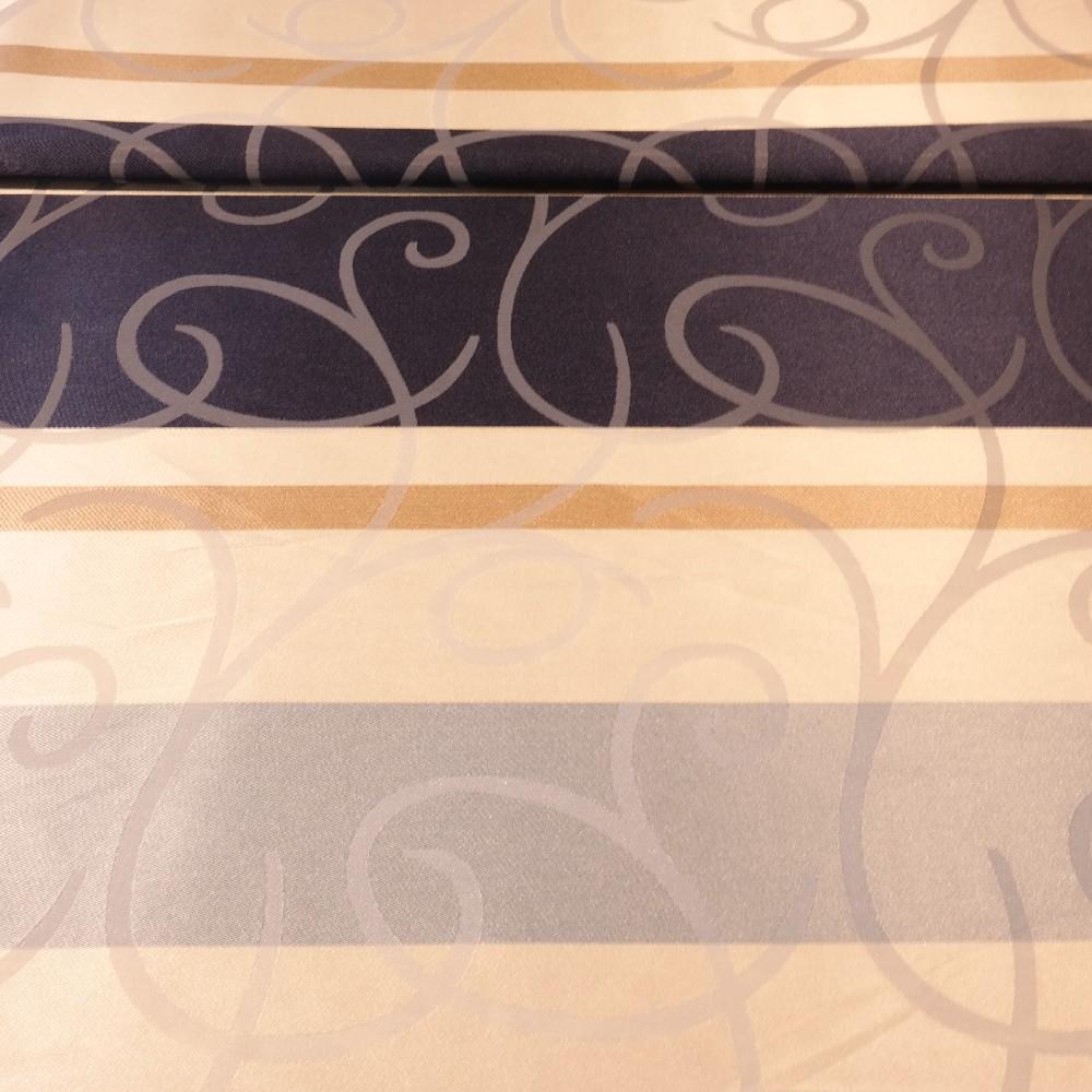 dekoračka modro-béžové pruhy, šlahouny š.140