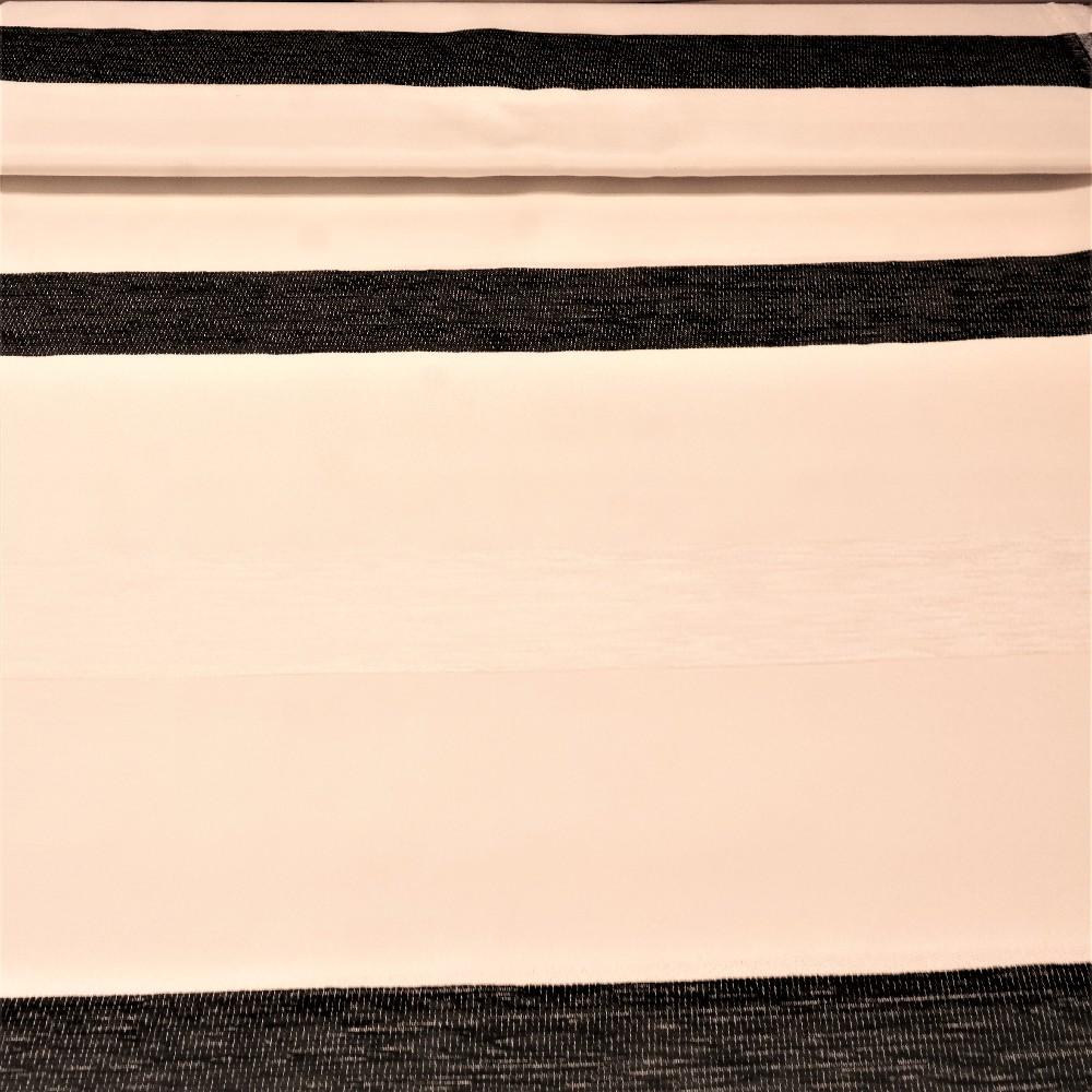 dekoračka bílo-černé pruhy š.280
