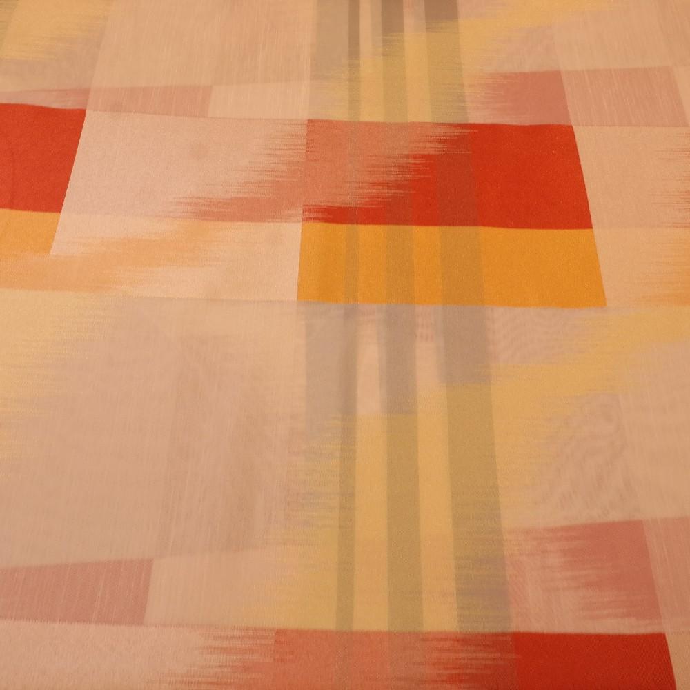 dekoračka béžovo-červeno-oranžová š.160