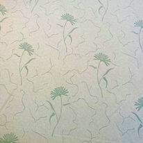 dekoračka sv.zelená, bílé chrpy, hladká š.140