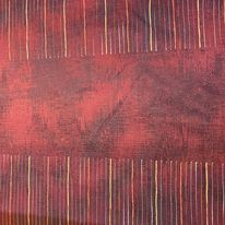 dekoračka oranžová, čárky š.150