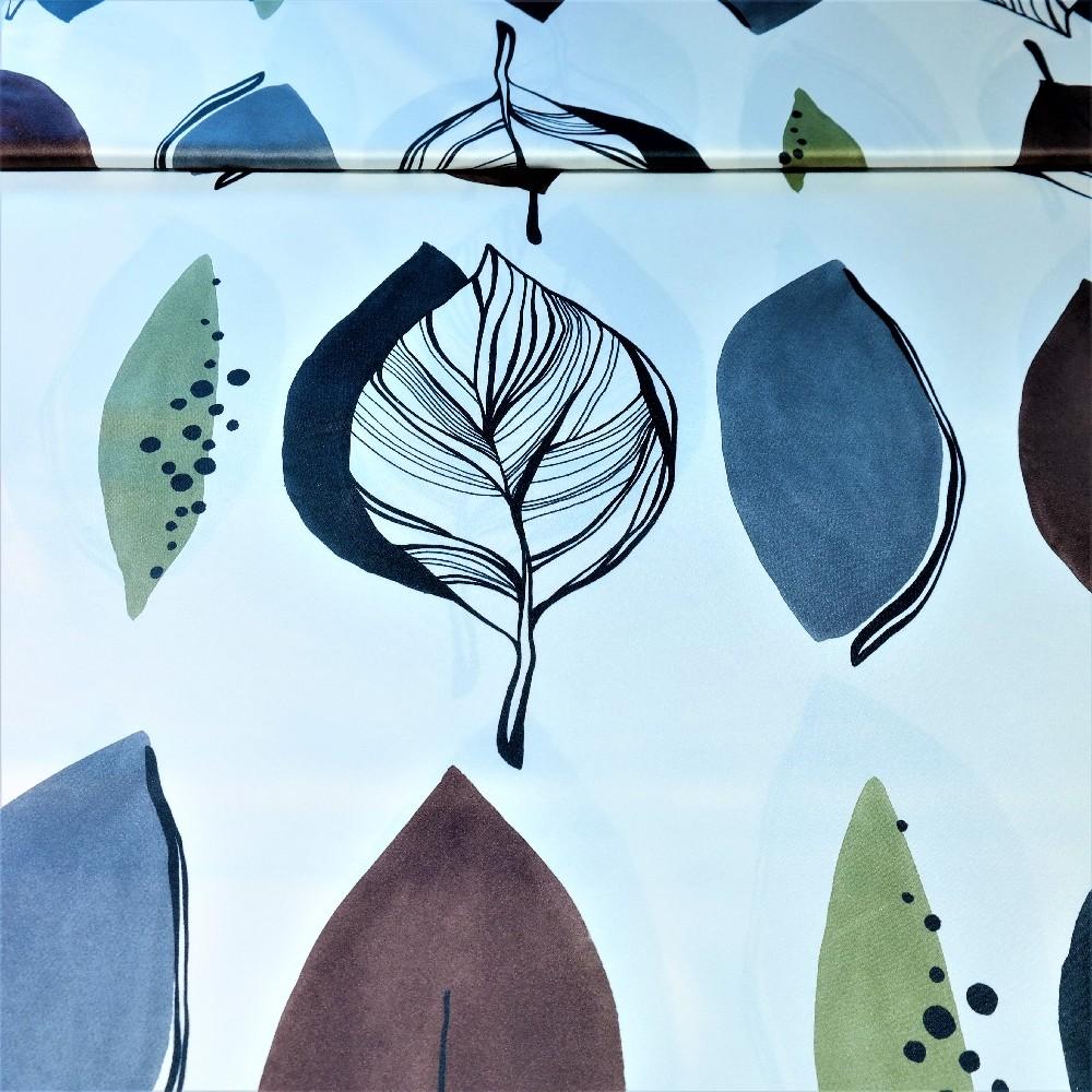 dekoračka zeleno-hnědo-šedivé listy š.155