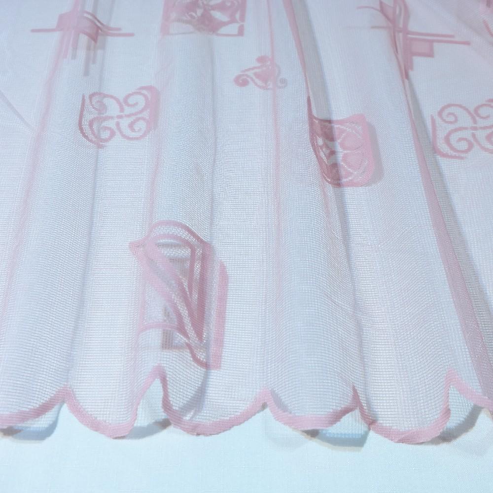 záclona  4385/180   1 j. růžová