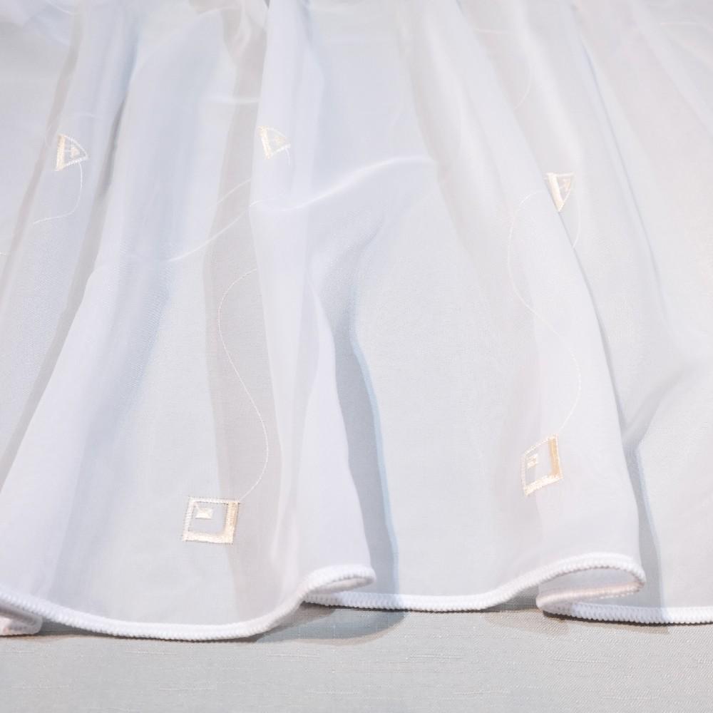 záclona bílá, geom. tvary A mess.175 1.jakost