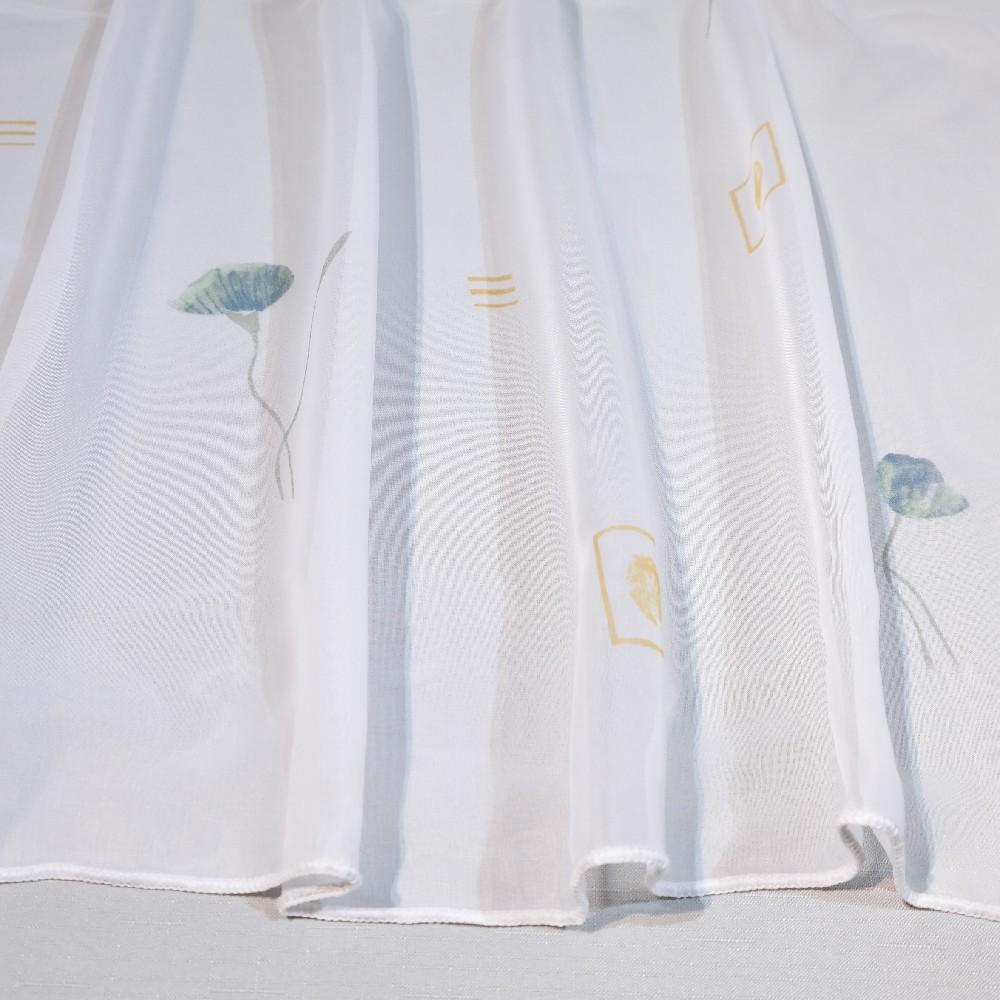 zaclona, bílá, kytky BR 149203/40/180