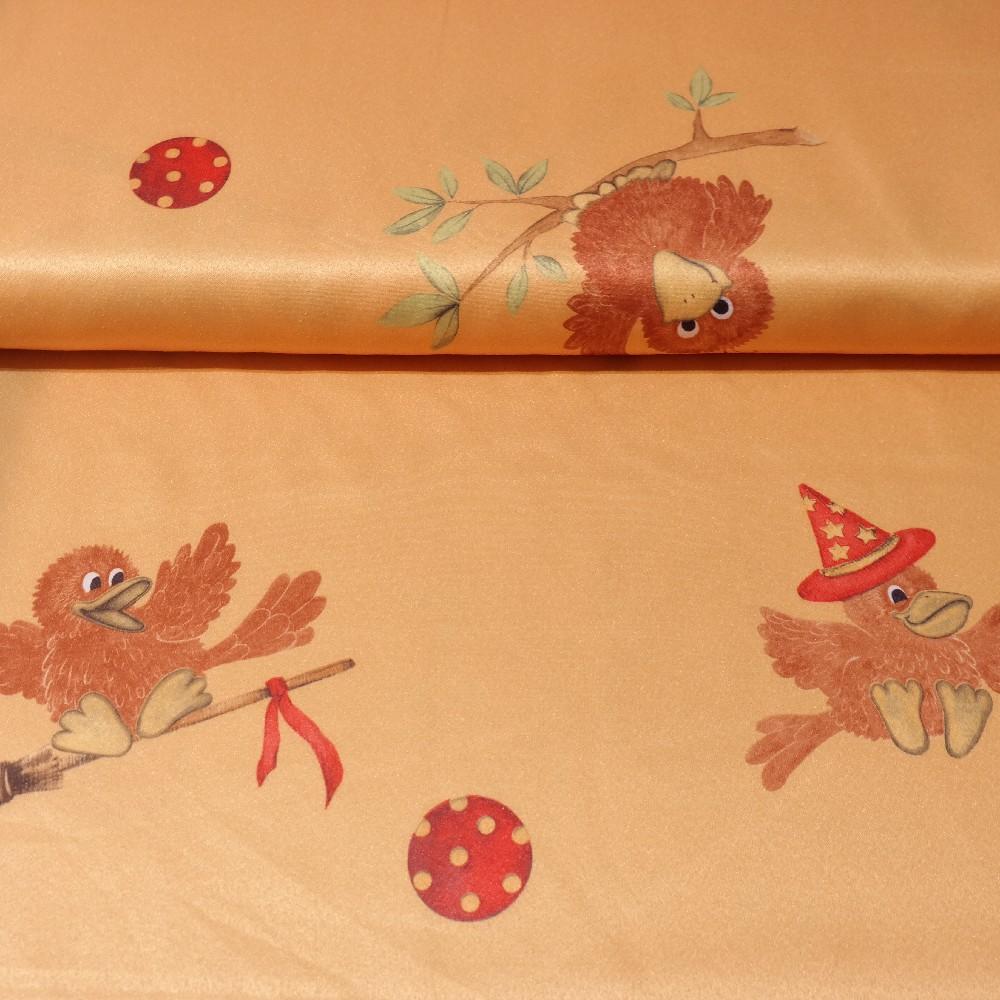 dekoračka oranžová, ptáček š.140