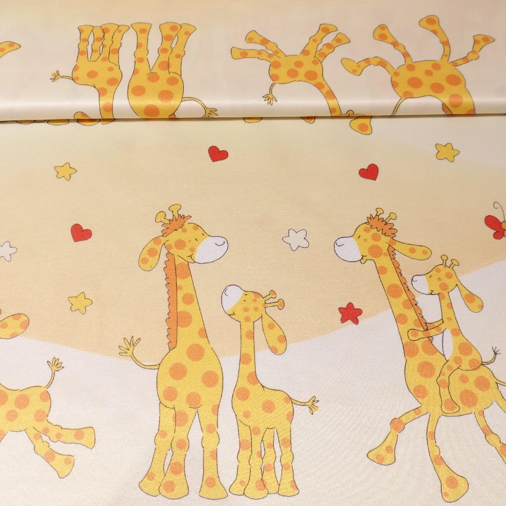 dekoračka žlutá, žirafky š.140