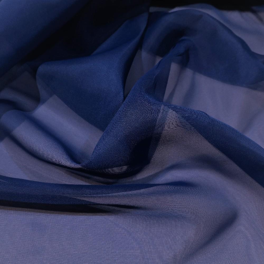 záclona voál modrý š.300 messe