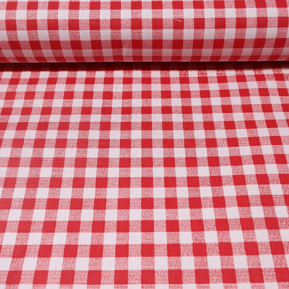 bavlna kostička červeno-bílá 145cm
