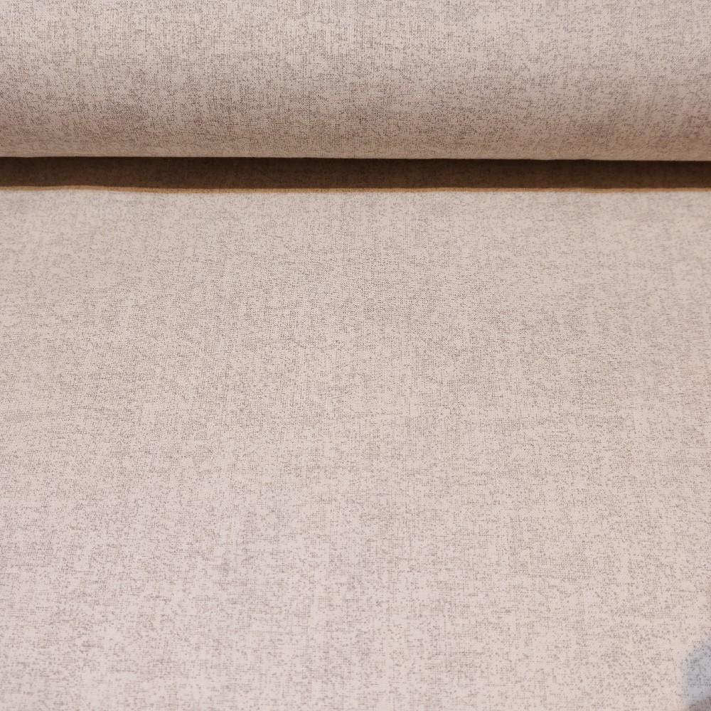 bavlna béžovo-bílý melír145cm